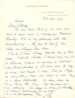 GEORGE ARLISS - AUTOGRAPH LETTER SIGNED 12/24/1942