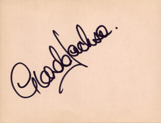 GLENDA JACKSON - AUTOGRAPH CO-SIGNED BY: BEN CROSS