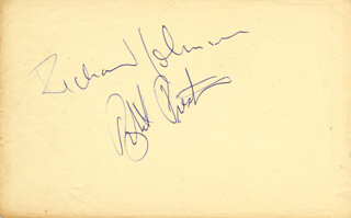 ROBERT PRESTON - AUTOGRAPH CO-SIGNED BY: DONALD PLEASENCE, RICHARD JOHNSON