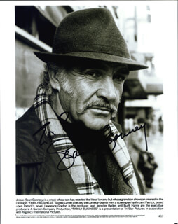 SEAN CONNERY - INSCRIBED PRINTED PHOTOGRAPH SIGNED IN INK