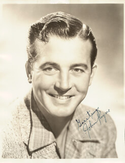 JOHN PAYNE - AUTOGRAPHED SIGNED PHOTOGRAPH