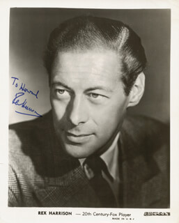 REX HARRISON - AUTOGRAPHED INSCRIBED PHOTOGRAPH