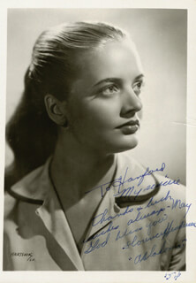 FLORENCE HENDERSON - AUTOGRAPHED INSCRIBED PHOTOGRAPH 1954