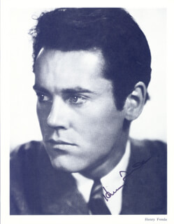 HENRY FONDA - AUTOGRAPHED SIGNED PHOTOGRAPH