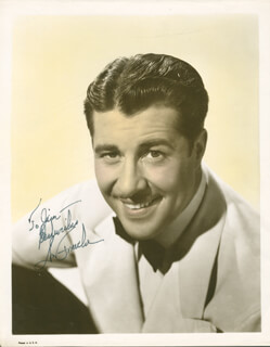 DON AMECHE - AUTOGRAPHED INSCRIBED PHOTOGRAPH  - HFSID 166554