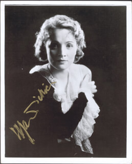 MARLENE DIETRICH - AUTOGRAPHED SIGNED PHOTOGRAPH