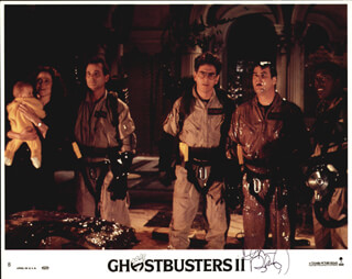 GHOSTBUSTERS 2 MOVIE CAST - AUTOGRAPHED SIGNED PHOTOGRAPH CO-SIGNED BY: DAN AYKROYD, HAROLD RAMIS