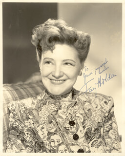 FAY HOLDEN - AUTOGRAPHED INSCRIBED PHOTOGRAPH