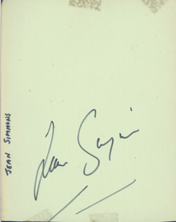 JEAN SIMMONS - AUTOGRAPH CO-SIGNED BY: PHYLLIS CALVERT