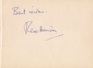 REX HARRISON - AUTOGRAPH SENTIMENT SIGNED CO-SIGNED BY: IAN CHARLESON