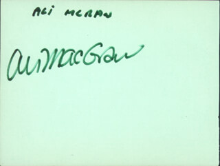 ALI MacGRAW - AUTOGRAPH CO-SIGNED BY: SUE LLOYD
