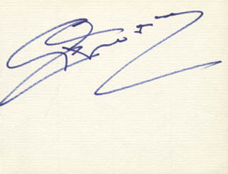 CYD CHARISSE - AUTOGRAPH CO-SIGNED BY: BARBARA CARRERA