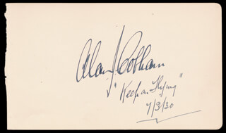 Autographs: SIR ALAN J. COBHAM - SIGNATURE(S) 07/03/1930