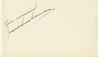 JACK BUCHANAN - AUTOGRAPH SENTIMENT SIGNED CO-SIGNED BY: LUPINO LANE