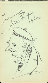 WILL FYFFE - SELF-CARICATURE SIGNED 1930