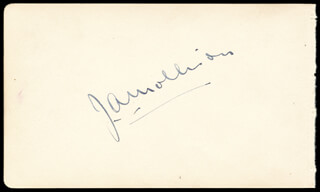 JAMES A. MOLLISON - AUTOGRAPH CO-SIGNED BY: ALICE (ALICE LAPIZE) DELYSIA