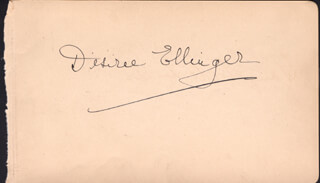 DESIREE ELLINGER - AUTOGRAPH 1930 CO-SIGNED BY: GEORGE GEE