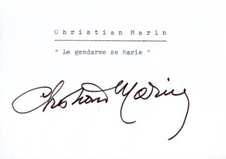 CHRISTIAN MARIN - PRINTED CARD SIGNED IN INK