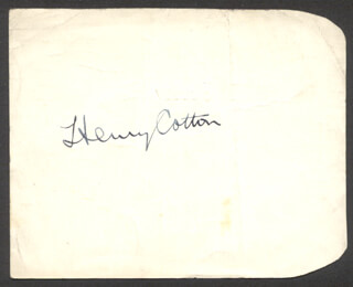 SIR THOMAS HENRY COTTON - AUTOGRAPH