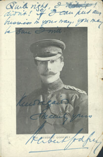 HERBERT GODFREY - PICTURE POST CARD SIGNED
