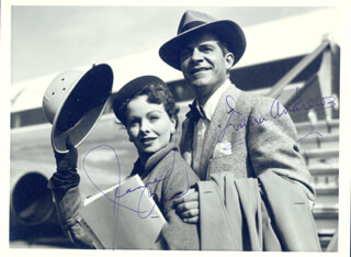 DANA ANDREWS - AUTOGRAPHED SIGNED PHOTOGRAPH CO-SIGNED BY: JEANNE CRAIN