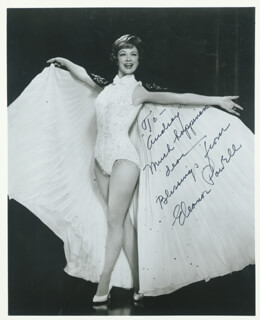 ELEANOR POWELL - AUTOGRAPHED SIGNED PHOTOGRAPH
