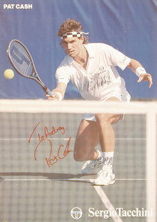 Autographs: PAT CASH - INSCRIBED POSTER SIGNED