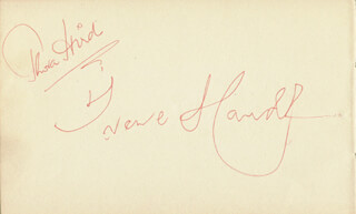 THORA HIRD - AUTOGRAPH CO-SIGNED BY: IRENE HANDL, DIANA QUICK