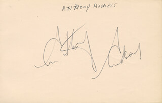 ANTHONY CORIN GERALD ANDREWS - AUTOGRAPH