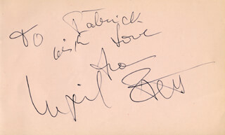INGRID PITT - AUTOGRAPH NOTE SIGNED