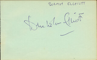 DENHOLM ELLIOTT - AUTOGRAPH CO-SIGNED BY: FIONA FULLERTON