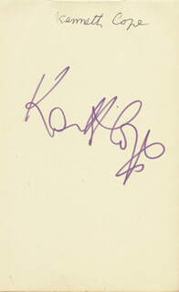 KENNETH COPE - AUTOGRAPH