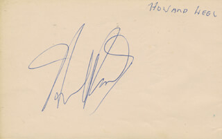 HOWARD KEEL - AUTOGRAPH CO-SIGNED BY: BARBARA WINDSOR
