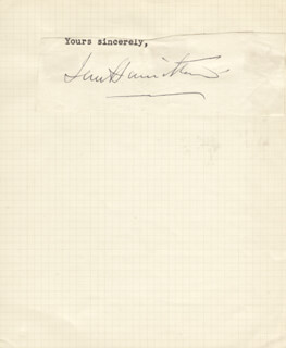 Autographs: GENERAL IAN S. HAMILTON - TYPED SENTIMENT SIGNED
