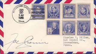 JOE CRONIN - SPECIAL COVER SIGNED