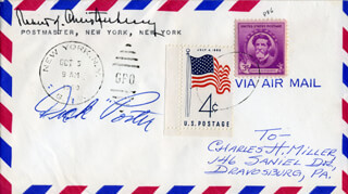 DICK TWITCHES PORTER - ENVELOPE SIGNED CIRCA 1960 CO-SIGNED BY: ROBERT K. BOB CHRISTENBERRY