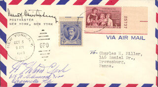 WATTY CLARK - ENVELOPE SIGNED CIRCA 1960 CO-SIGNED BY: ROBERT K. BOB CHRISTENBERRY