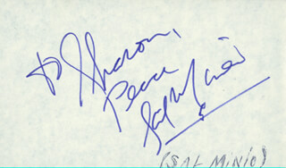 SAL MINEO - AUTOGRAPH NOTE SIGNED