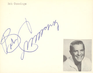 Autographs: ROBERT BOB CUMMINGS - SIGNATURE(S)