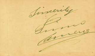 PRIMO CARNERA - AUTOGRAPH SENTIMENT SIGNED