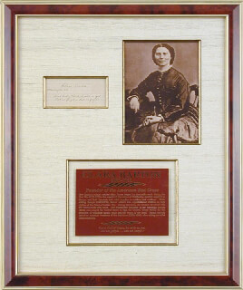 Autographs: CLARA BARTON - AUTOGRAPH QUOTATION SIGNED