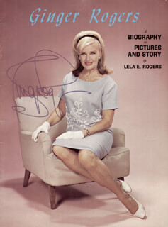 GINGER ROGERS - BIOGRAPHY SIGNED