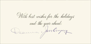 Autographs: JACK DEMPSEY - CHRISTMAS / HOLIDAY CARD SIGNED CO-SIGNED BY: DEANNA DEMPSEY