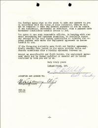 MONTGOMERY CLIFT - CONTRACT SIGNED 01/31/1961