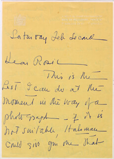 Autographs: DUCHESS OF WINDSOR (WALLIS SIMPSON) - AUTOGRAPH LETTER SIGNED 02/02