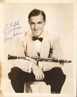 BENNY GOODMAN - AUTOGRAPHED SIGNED PHOTOGRAPH
