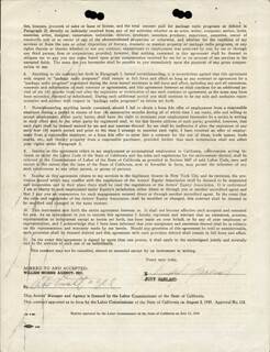 Autographs: JUDY GARLAND - CONTRACT SIGNED 09/18/1951