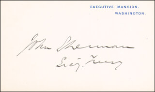 JOHN SHERMAN - WHITE HOUSE CARD SIGNED
