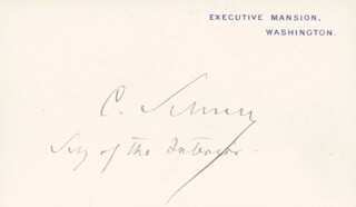 Autographs: MAJOR GENERAL CARL SCHURZ - WHITE HOUSE CARD SIGNED