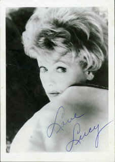 LUCILLE LUCY BALL - AUTOGRAPHED SIGNED PHOTOGRAPH